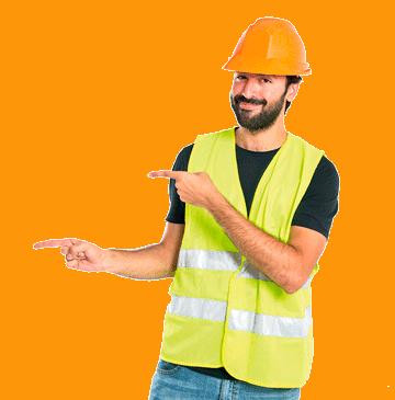 rapaz-construção